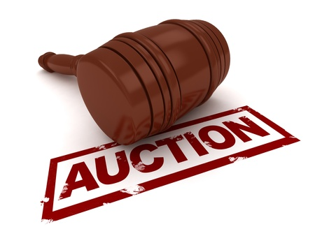 3D Illustration of a Gavel Placed Near the Word Auction Stock Illustration - 9307218