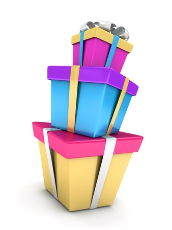 3D Illustration of a Stack of Gifts Stock Illustration - 9307205