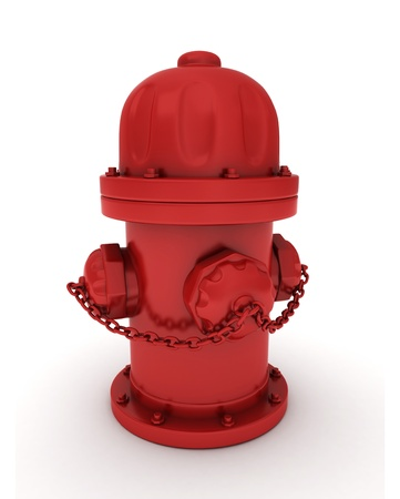 borne fontaine: 3D Illustration of a Fire Hydrant