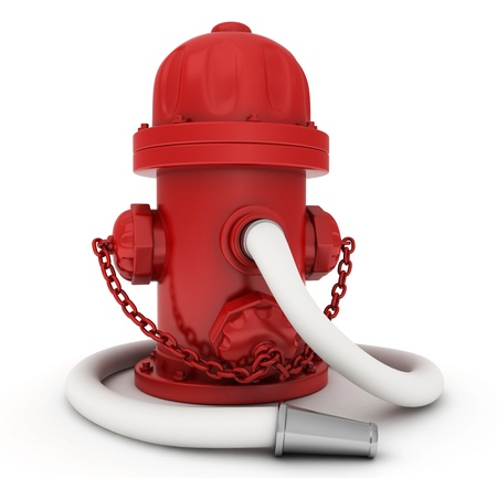 fire plug: 3D Illustration of a Fire Hydrant