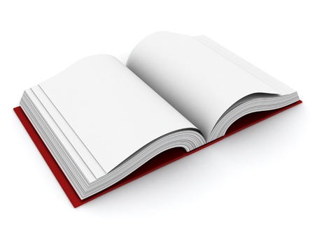 3D Illustration of an Open Book Stock Illustration - 9307202