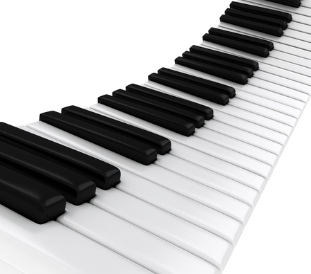 3D Illustration of Piano Keys Stock Illustration - 9307270