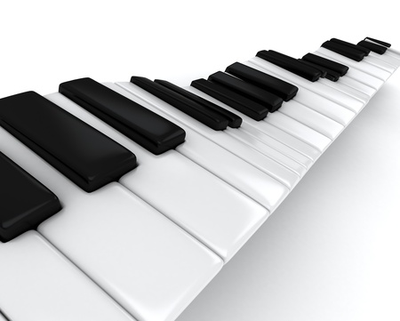 3D Illustration of a Piano Keys illustration