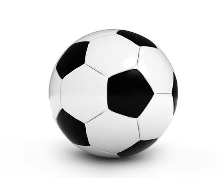 3D Illustration of a Soccer Ball illustration