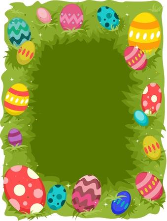 Background Illustration Featuring Easter Eggs illustration