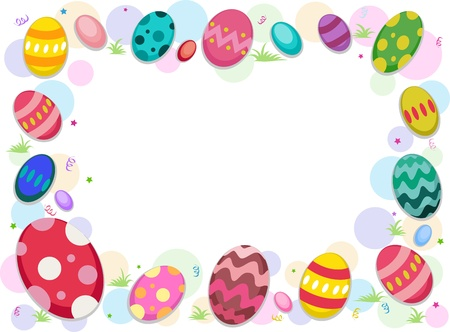 featuring: Background Illustration Featuring Easter Eggs