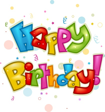 doodle text: Text Featuring the Words Happy Birthday
