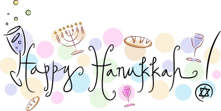 Text Featuring the Words Happy Hanukkah photo