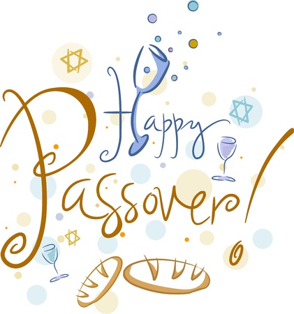 unleavened: Text Featuring the Words Happy Passover