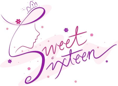 Text Featuring the Words Sweet Sixteen photo