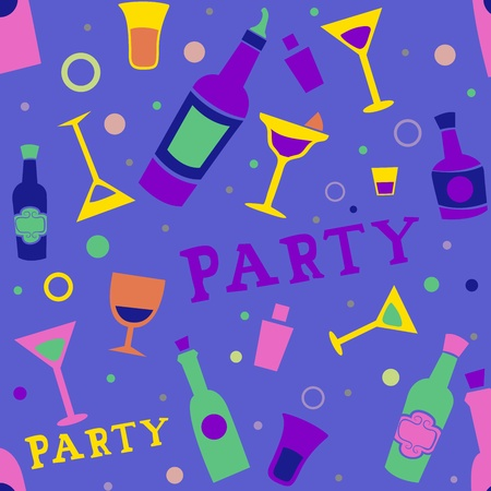 Seamless Background Illustration of Cocktail Party Related Items Stock Illustration - 9456850