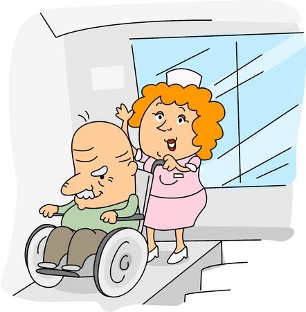 Illustration of a Nurse at Work illustration