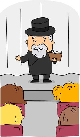 preacher: Illustration of a Rabbi at Work