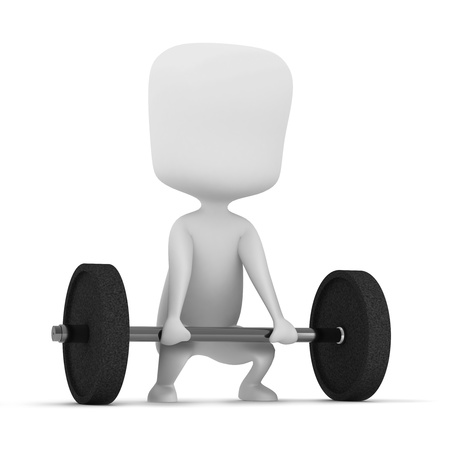 athleticism: 3D Illustration of a Man Weightlifting Stock Photo