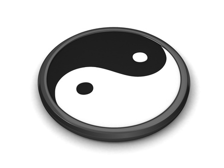 3D Illustration Representing Taoism Stock Illustration - 9648860