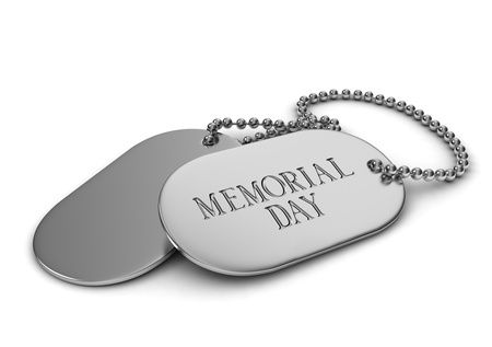 memorial day: 3D Illustration of Dog Tags