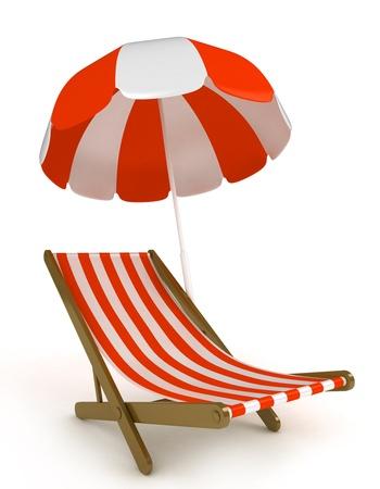 strandstoel: 3D illustratie van een strandstoel Stockfoto