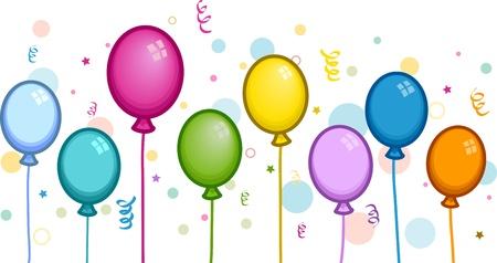 Illustration of Colorful Balloons illustration