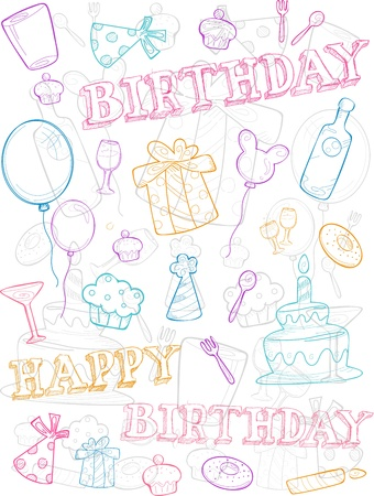 Illustration of Birthday Related Items Stock Illustration - 9670357