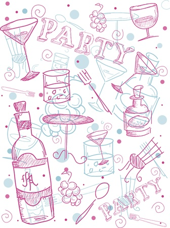 Illustration of Cocktail Related Items Stock Illustration - 9670355