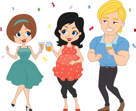 Illustration of a Baby Shower Party Stock Illustration - 9670331