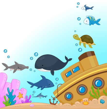Illustration of Animals Under the Sea illustration