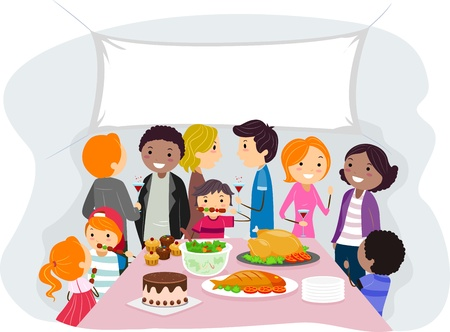 relative: Illustration of a Family Gathering