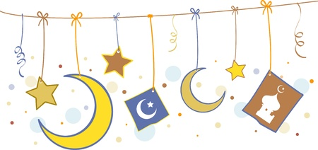 Illustration of Islamic Symbols Stock Illustration - 9707196