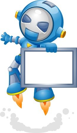 Illustration of a Toy Robot Carrying a Frame Stock Illustration - 9781881