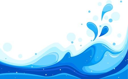 Illustration Featuring Large Waves illustration
