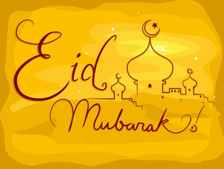 Background Illustration with an Eid al-Fitr Stock Illustration - 9847277