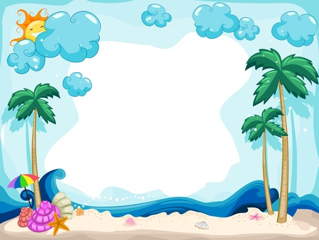 Background Illustration with a Summer Theme illustration