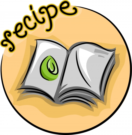 recipe book: Illustration of an Open Recipe Book Stock Photo