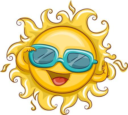 suave: Illustration of the Sun Wearing Sunglasses