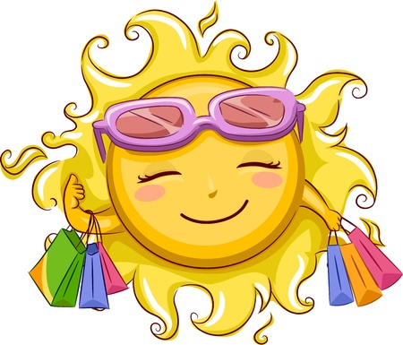 retail therapy: Illustration of the Sun Shopping