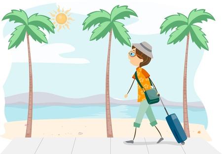 Illustration of a Guy on a Trip illustration