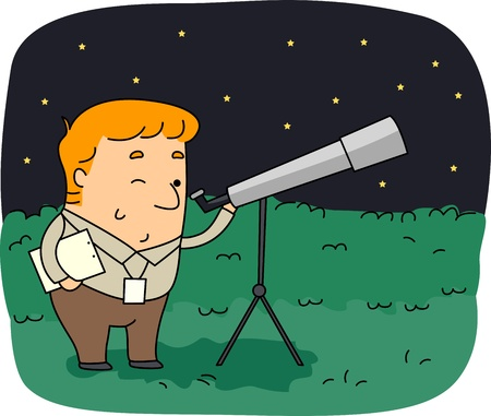 astronomer: Illustration of an Astronomer at Work