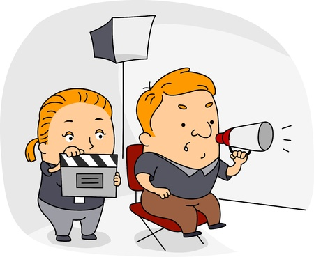 director: Illustration of a Director at Work