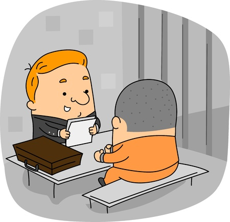 penitentiary: Illustration of a Lawyer at Work