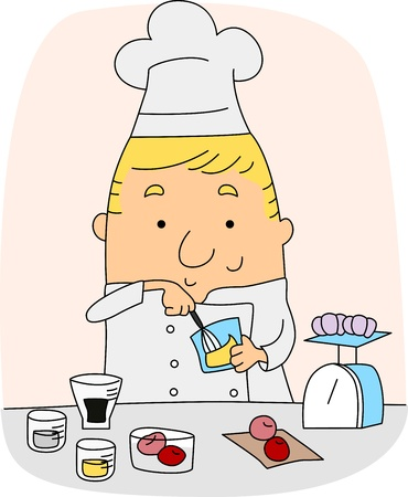 Illustration of a Chef at Work Stock Illustration - 9991425