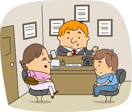 Illustration of a School Counselor at Work