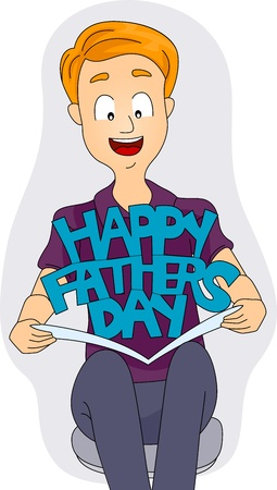 Illustration of a Fathers Day Card illustration