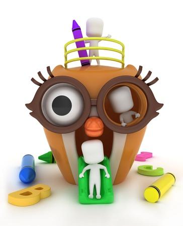 3D Illustration of Kids Playing Stock Illustration - 10132544