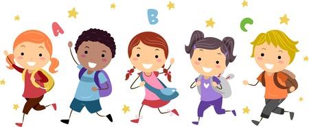 leccion: Ilustración de niños con