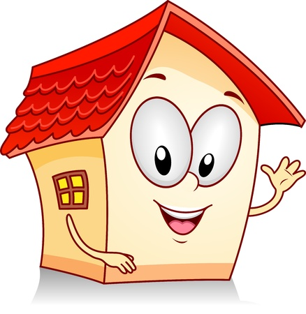 home clipart: Illustration of a Human like House