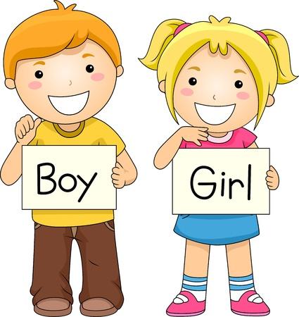 Illustration of Kids Holding Flashcards Stock Illustration - 10192169