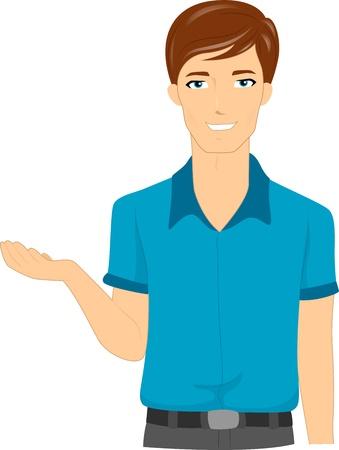 Illustration of a Male Teacher Explaining Stock Illustration - 10327115