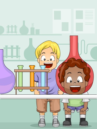 Illustration of Kids in a Science Laboratory Stock Illustration - 10433025