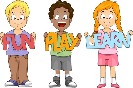 illustration of children holding cutouts stock photo picture and royalty free image image 10433032