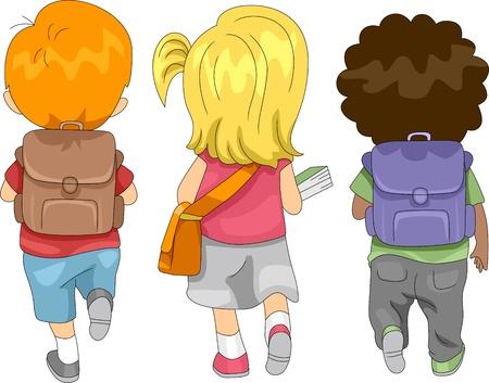 Illustration of Kids Going to School Stock Illustration - 10433033